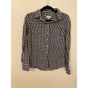 Navy Gingham button down
